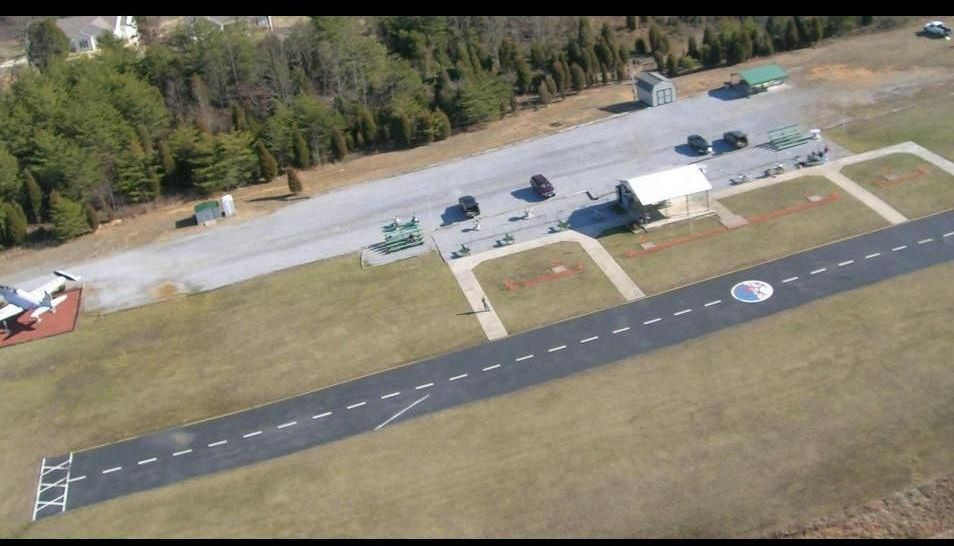 Aerial shot of the Tri-Cities Model Airport